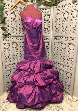 Disney Forever Enchanted Purple Size 4 Ruffles Prom Strapless Mermaid Dress on Queenly