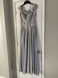 Queenly size 10  Silver Ball gown evening gown/formal dress