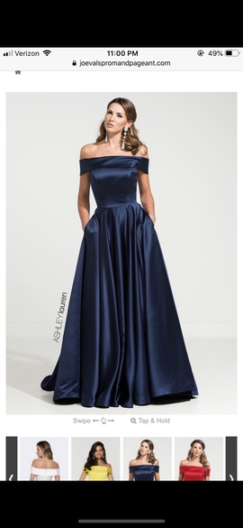 Queenly size 8 Ashley Lauren Blue Ball gown evening gown/formal dress