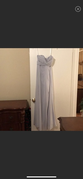 Queenly size 2  Silver A-line evening gown/formal dress
