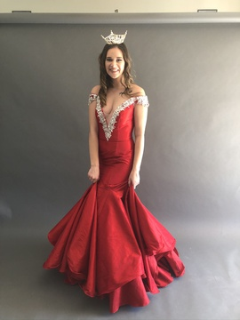 Queenly size 4 Ritzee Red Mermaid evening gown/formal dress
