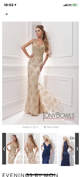 Gold Size 6 A-line Dress on Queenly