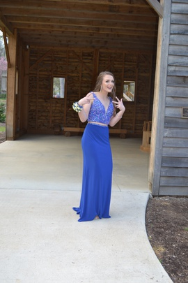 Sherri Hill Royal Blue Size 4 Tall Height Straight Dress on Queenly