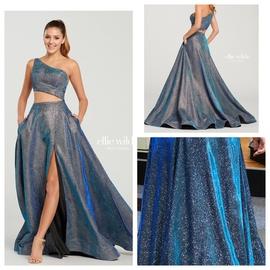 Ellie Wilde Blue Size 2 Side slit Dress on Queenly