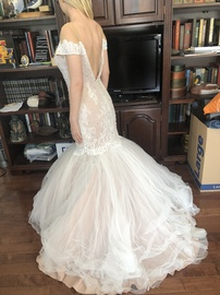 Sherri Hill White Size 6 Lime Wedding Mermaid Dress on Queenly
