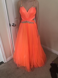 Mac Duggal Orange Size 6 A-line Dress on Queenly