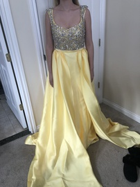 Mac Duggal Yellow Size 8 Mermaid Dress on Queenly