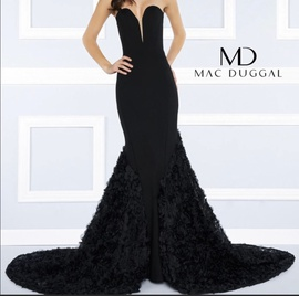 Queenly size 4 Mac Duggal Black Train evening gown/formal dress
