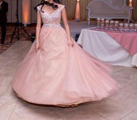 Terani Couture Pink Size 2 Ball gown on Queenly