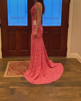 Queenly size 2  Pink Train evening gown/formal dress