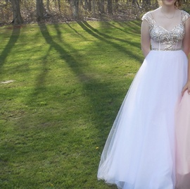 Nina Canacci Gold Size 4 Prom Ball gown on Queenly