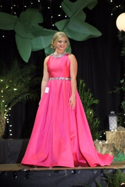 Queenly size 12 Mac Duggal Pink Ball gown evening gown/formal dress
