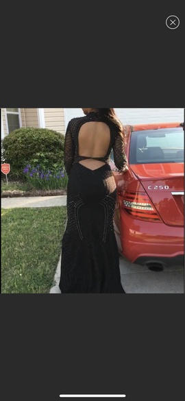 Jovani Black Size 8 Prom Long Sleeve Ball gown on Queenly