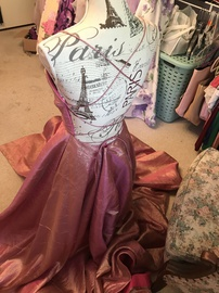 Sherri Hill Pink Size 8 Corset Gold Rose Gold A-line Dress on Queenly