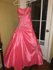 Tony Bowls Pink Size 2 Jewelled Strapless Sequin Mermaid Dress on Queenly