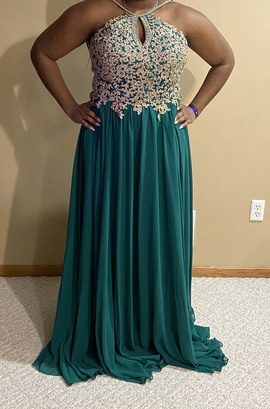 Queenly size 16  Green Straight evening gown/formal dress