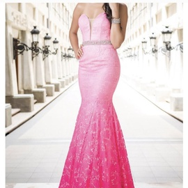 Queenly size 2  Pink Mermaid evening gown/formal dress