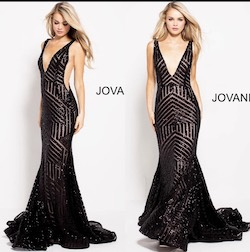 Queenly size 12 Jovani Black Mermaid evening gown/formal dress