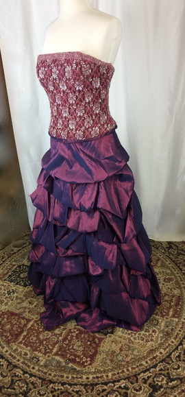 Queenly size 12 Precious Formals Purple Ball gown evening gown/formal dress