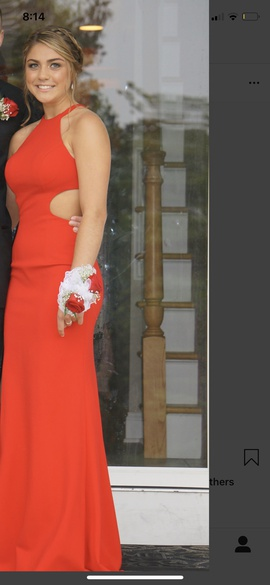 Sherri Hill Red Size 0 Train Dress on Queenly