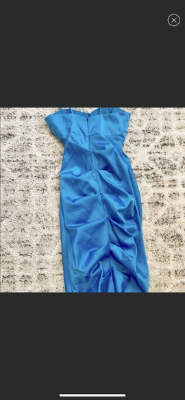 Faviana Blue Size 00 Prom Strapless Mermaid Dress on Queenly