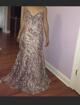 Terani Couture Purple Size 4 Straight Dress on Queenly