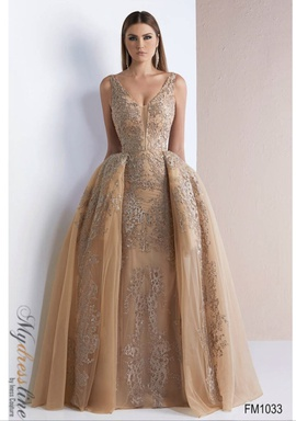 Queenly size 10  Gold Ball gown evening gown/formal dress