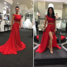 Sherri Hill Red Size 2 Fun Fashion Overskirt High Low Cocktail Dress on Queenly