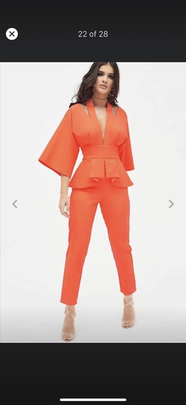 Orange Size 4 Romper/Jumpsuit Dress on Queenly