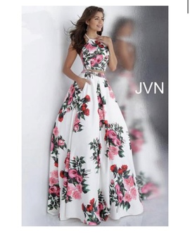 Queenly size 2 Jovani Multicolor A-line evening gown/formal dress