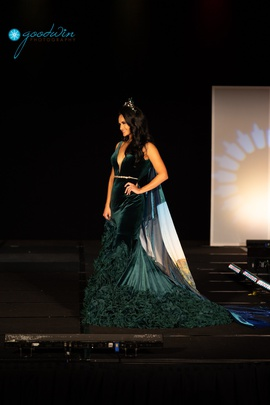 Jovani Green Size 6 Velvet Ball gown on Queenly