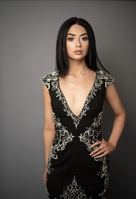 Sherri Hill Black Size 6 Homecoming Plunge Cocktail Dress on Queenly