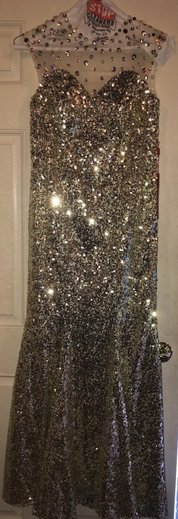 Queenly size 6  Gold Mermaid evening gown/formal dress