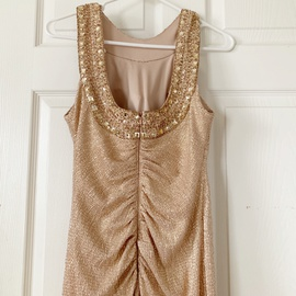 Xscape Rose Gold Size 6 Ball gown on Queenly