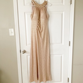 Queenly size 6 Xscape Gold Ball gown evening gown/formal dress