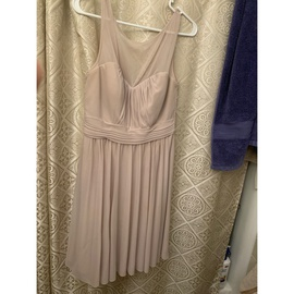 Queenly size 10 David's Bridal Nude Cocktail evening gown/formal dress