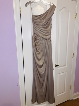 Jovani Gold Size 4 Tall Height Straight Dress on Queenly