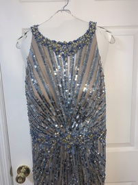 Mac Duggal Blue Size 16 Plus Size Straight Dress on Queenly