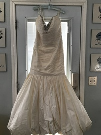 Queenly size 16 Demitrios White Mermaid evening gown/formal dress