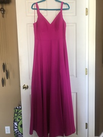 Queenly size 12 Nicole Miller Pink Side slit evening gown/formal dress