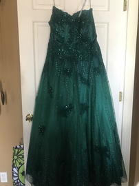 Jovani Green Size 16 Plus Size Ball gown on Queenly