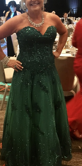 Queenly size 16 Jovani Green Ball gown evening gown/formal dress