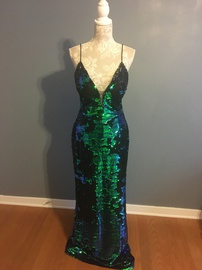 Jovani Multicolor Size 14 Plus Size Straight Dress on Queenly