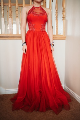 Queenly size 0  Red Ball gown evening gown/formal dress