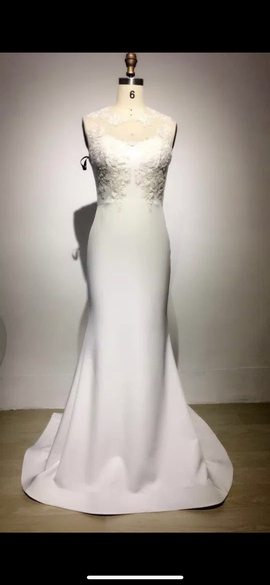 Custom White Size 4 Prom Straight Dress on Queenly