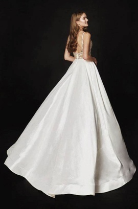 White Size 4 Train Dress on Queenly