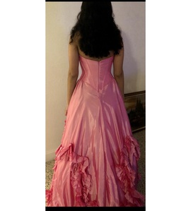 Sherri Hill Pink Size 6 Strapless Ball gown on Queenly