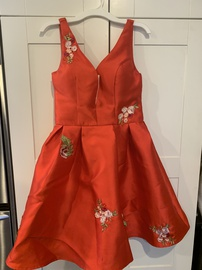 Queenly size 0  Red Cocktail evening gown/formal dress