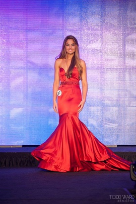 Sherri Hill Red Size 4 Train Plunge Pageant Mermaid Dress on Queenly