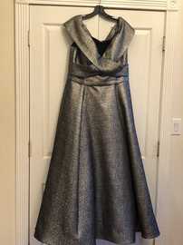 Queenly size 16 Jovani Silver Ball gown evening gown/formal dress